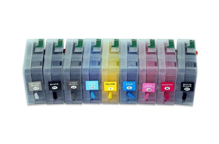 Перезаправляемые картриджи для Epson SureColor SC-P800 (80 ml)