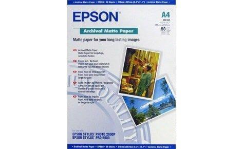 Матовая фотобумага Epson Archival Matte A4, 189g, 50 листов