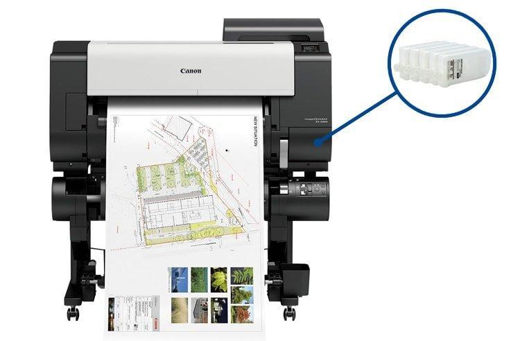 Плоттер Canon imagePROGRAF iPF TX-2000 с ПЗК и чернилами
