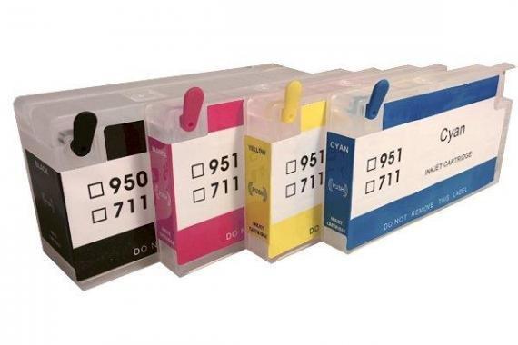 Перезаправляемые картриджи для HP DesignJet T520