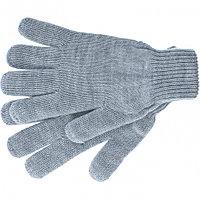 Перчатки трикотажные, акрил, серая туча, двойная манжета Россия Сибртех, фото 1