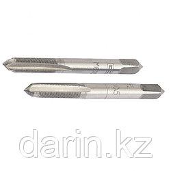 Метчик ручной М5 х 0.8 мм, комплект из 2 шт Сибртех