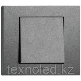Выключатель 1 клав. дымчатый GRANO, фото 2