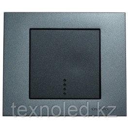 Выключатель 1 клав. с подсв. дымчатый GRANO