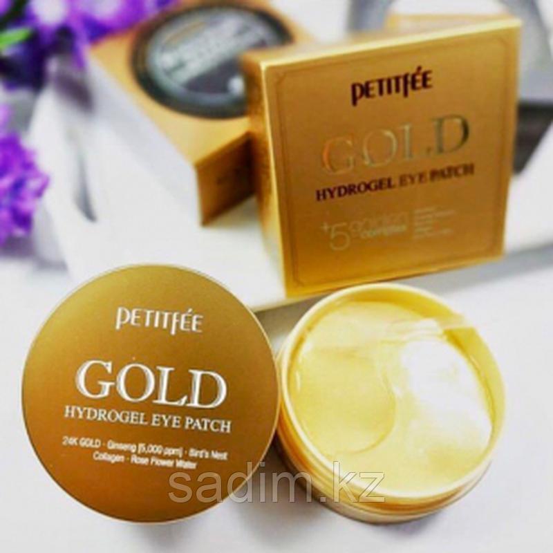 Petitfee Gold Hydrogel Eye Patch -  Петитфи Гидрогелевые патчи для области вокруг глаз с золотом 60шт
