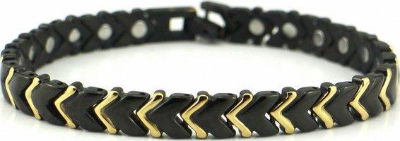 Стальные браслесты черным ионным покрытием