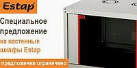 """Настенный односекционный шкаф, 19"""" 600 х 450 мм, 9U, серии Ecoline"""