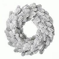 Венок еловый d50см заснеженый Рождественский KA685002