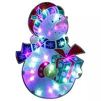 Световое панно Снеговик h50