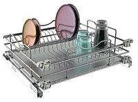 Выдвижная сушка для посуды размер 560/568х480х180 мм, хром