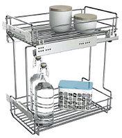 Выдвижная кухонная проволочная корзина (200мм)