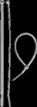 (309010-36-300) Хомуты нейлоновые белые, 3,6 х 300 мм, 100 шт, ЗУБР
