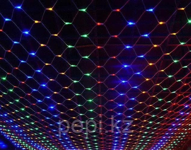 Электрогирлянда сетка LED, 320ламп, 3*2м, цвет микс