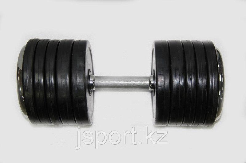 Гантели на резиновых дисках 40+40кг