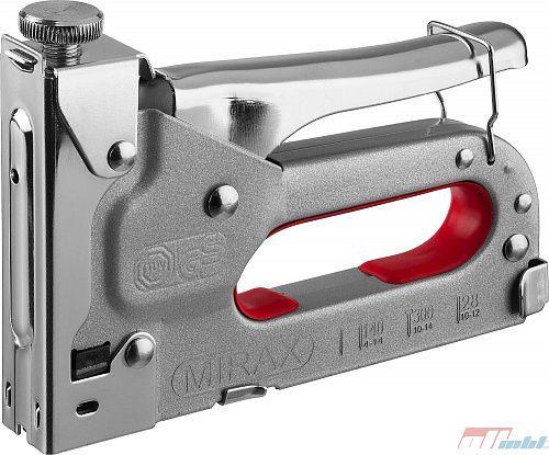 Степлер для скоб 3-в-1: тип 140 (4-14 мм) / 300 (10-14 мм) / 28 (10-12 мм), MIRAX, ( 3146 )