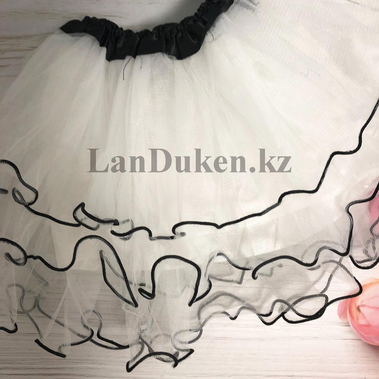 Юбка пачка детская для танцев 29 см Белая - фото 2
