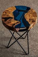 Изготовление столов  из дерева и эпоксидной смолы, фото 1
