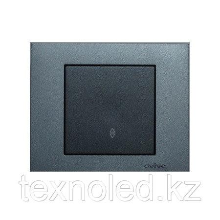 Выключатель 1-клавишный проходной Ovivo Grano дымчатый