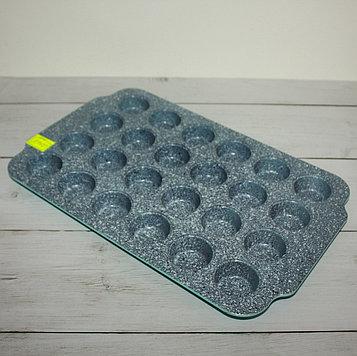 Форма мраморная прямоугольная для кексов (24 ячейки)