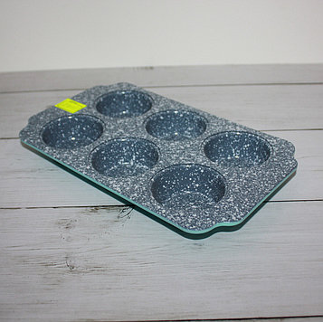 Форма мраморная прямоугольная для кексов (6 ячейки)