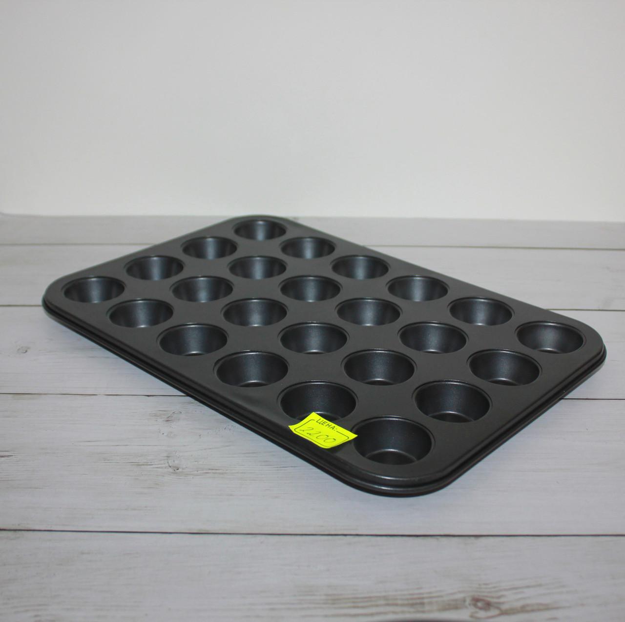 """Форма для выпечки """"Кекс"""" с антипригарным покрытием (24 ячейки)"""