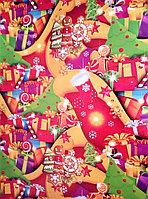 """Новогодняя бумага для упаковки подарков """"Печеньки"""""""