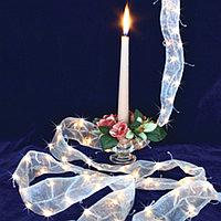 Гирлянда 1м теплобелая Лента белая кабель прозрачный 2м 120ламп LED indoor 461-55