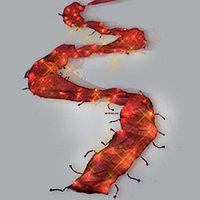 Гирлянда 1м теплобелая Лента красная кабель прозрачный 2м 120ламп LED indoor 461-45