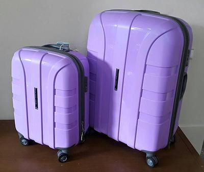"""Чемодан пластиковый """"Aotian"""" большой светло-фиолетовый"""