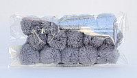 Помпоны декоративные из акриловой пряжи, 1.5 см, серые
