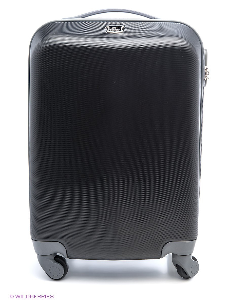 Маленький пластиковый чемодан черный Verage