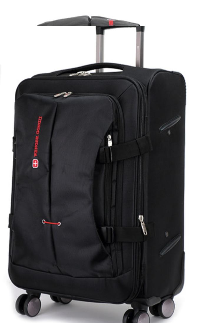 Малый чемодан черный прочный Wenger Gonzi (размер S)