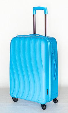 """Голубой чемодан большой """" Bubule"""" из полипропилена"""