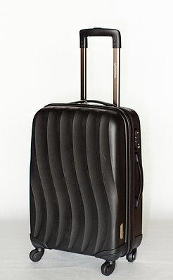 """Черный пластиковый чемодан большой """" Bubule"""" из полипропилена"""