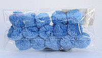 Помпоны декоративные из акриловой пряжи, 1.5 см, голубые