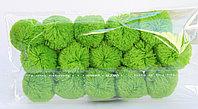 Помпоны декоративные из акриловой пряжи, 1.5 см, светло-зеленые