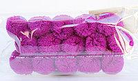Помпоны декоративные из акриловой пряжи, 1.5 см, фиолетовые