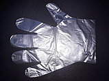 Перчатки целофан одноразовые гигиенические в пачке 100шт, фото 4