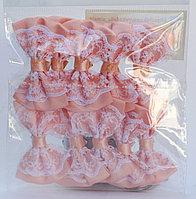 Бантикидля декорирования, 10 шт., розовые