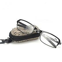 Складные очки+2,5 диоптрий с чехлом, фото 3