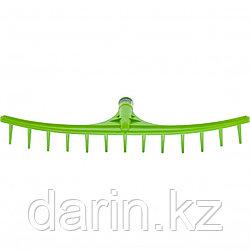 Грабли пластиковые, 655 мм, 13 круглых зубьев, сенные, без черенка, Россия, Сибртех
