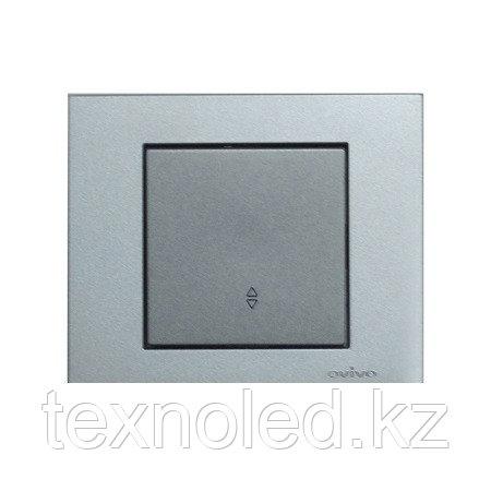 Выключатель 1-клавишный проходной Ovivo Grano серебро