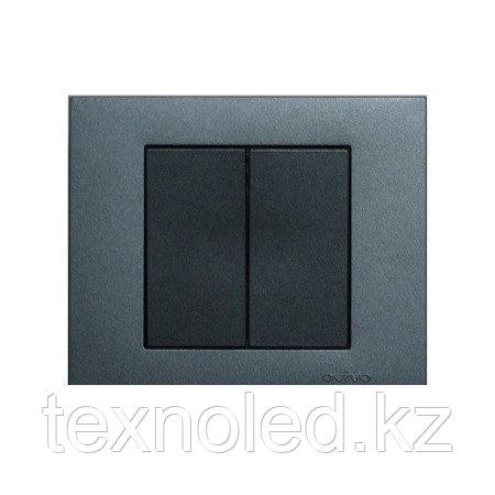 Выключатель 2-клавишный Ovivo Grano дымчатый