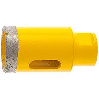 Сверло алмазное по керамограниту, 38 мм, мокрая резка, М14 Denzel, фото 1