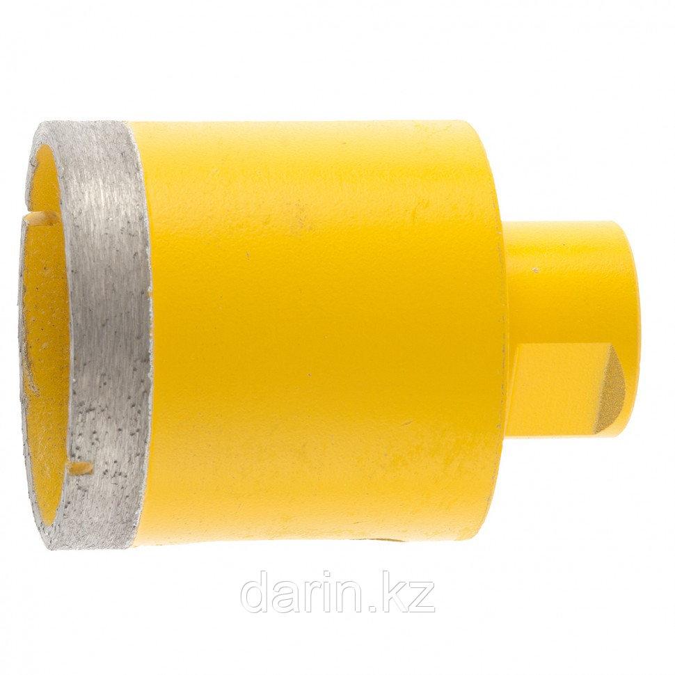 Сверло алмазное по керамограниту, 55 мм, мокрая резка, М14 Denzel