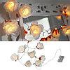 Гирлянда 1,75м теплобелая Розы кабель прозрачный 0,5м батарейки АА таймер 8диодов LED indoor 726-85