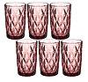 Набор стаканов 350 мл  8х8х12,5 см, 6 шт, цвет розовый