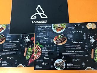 Печать меню для ресторанов