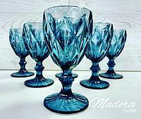 Бокал для вина 250 мл (6шт), цвет синий, фото 1