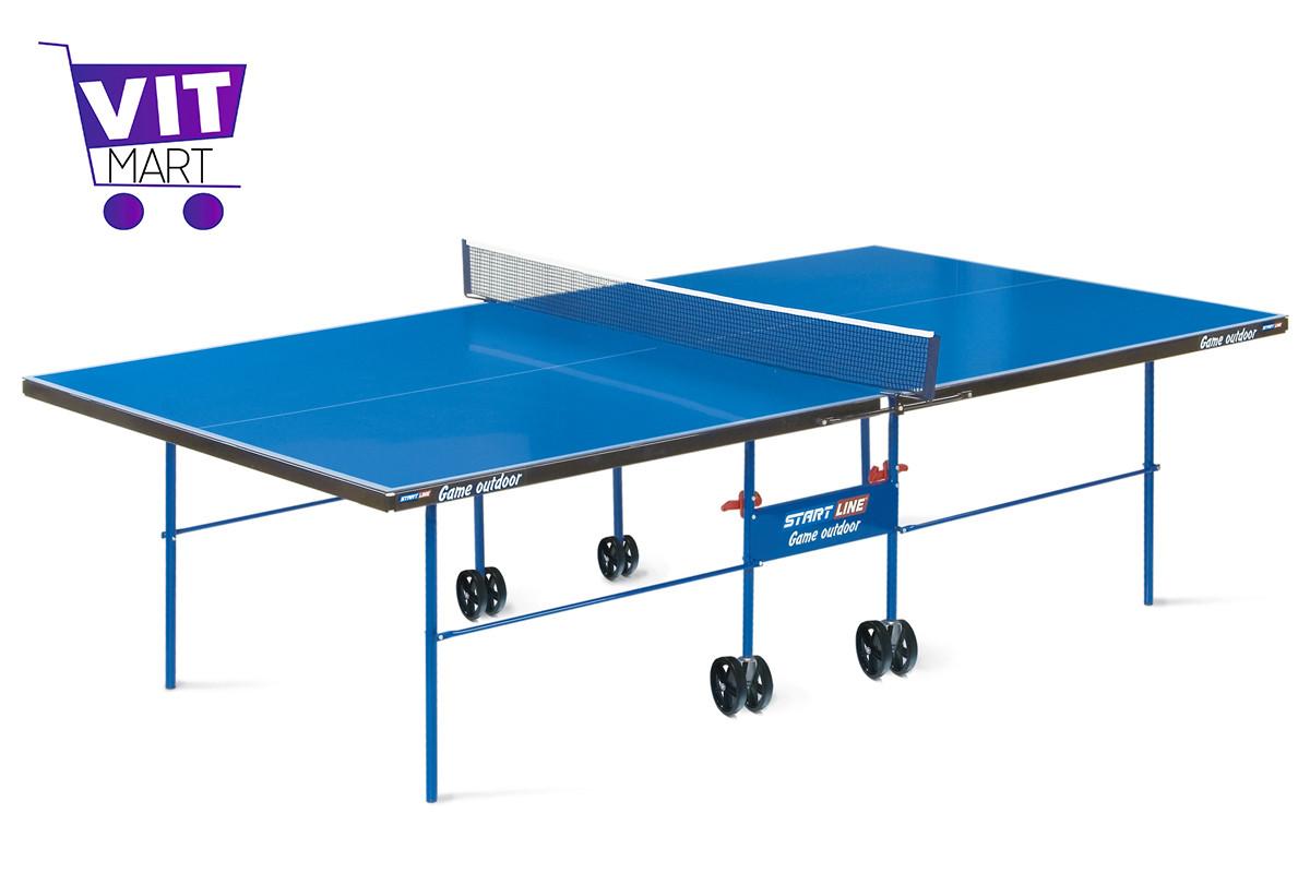 Теннисный стол Start line Game Outdoor (всепогодный) с сеткой - фото 1